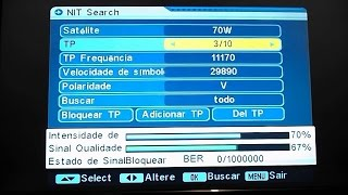 Como adicionar satélite no Satlink 6906 61w, 22w, 70w, 58W e outros