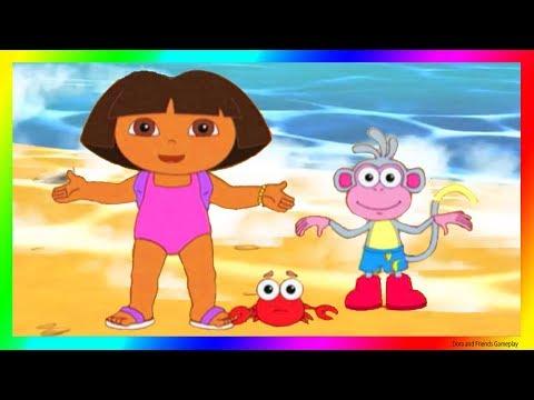 Dora and Friends the Explorer Adventure Cartoon for Kids 👙 Dora the Explorer Season Beach 😍