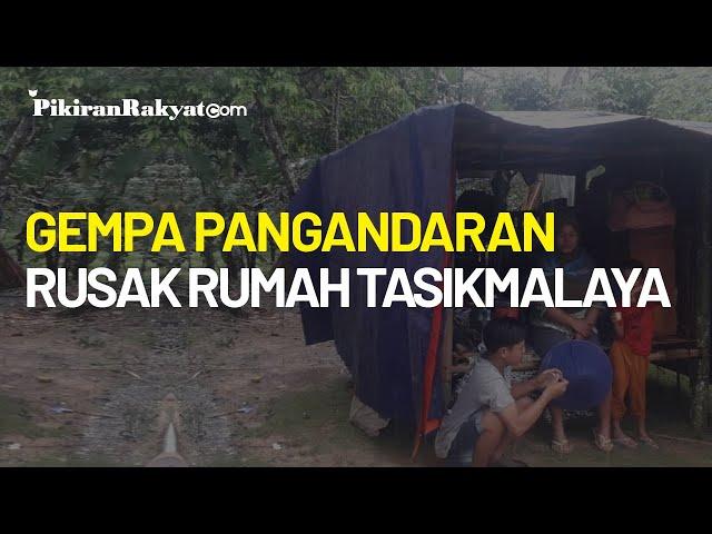 Gempa 5,9 M di Pangandaran Akibatkan Rumah Rusak di Tasikmalaya, Keluarga Wardi Mengungsi