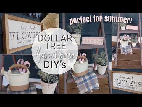 DIY DOLLAR TREE PORCH DECOR | FARMHOUSE STYLE DIY | TRASH TO TREASURE MAKEOVER