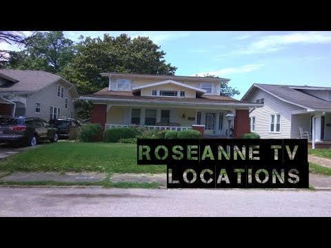 ROSEANNE TV LOCATIONS EVANSVILLE INDIANA