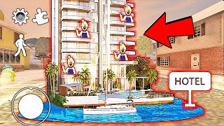 SUPER HOTEL! Funny moments in Ice Scream Chapter 3 || Experiments with Rod Episode