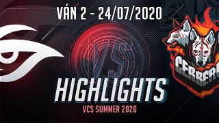 Highlights CES vs TS [Ván 2][VCS 2020 Mùa Hè][24.07.2020]