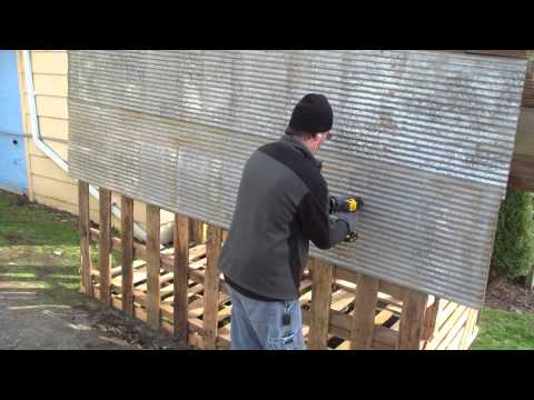 How to build free or cheap shed from pallets diy garage for Build your garage online
