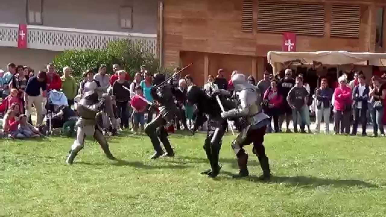 20 combat des chevaliers en armure par la compagnie sombreterres youtube. Black Bedroom Furniture Sets. Home Design Ideas