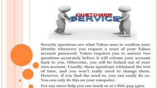 How To Manage Security Question in Yahoo Mail?