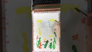 알라스카의 여름 수채화 그림그리기(과슈) #유튜브쇼츠 …
