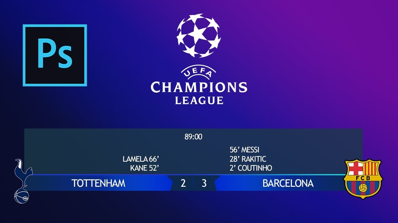 Making The Score Bar Graphic Of The Uefa Champions League