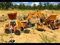 RC HUINA construction company, Excavator, Nakladač, nákladní auto