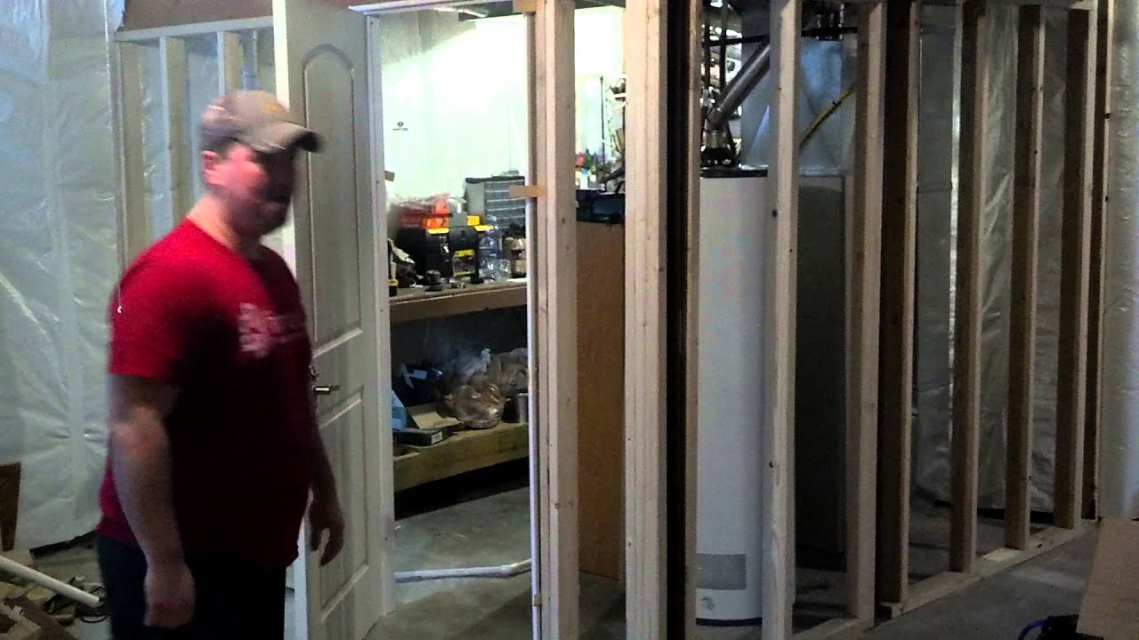 Diy gun room youtube for How to build a safe room in your basement