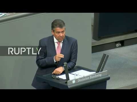 LIVE: Gabriel addresses German parliament in Berlin