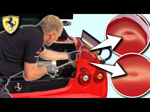 DOUBLE DENT damage on the FERRARI! | Can I fix it?