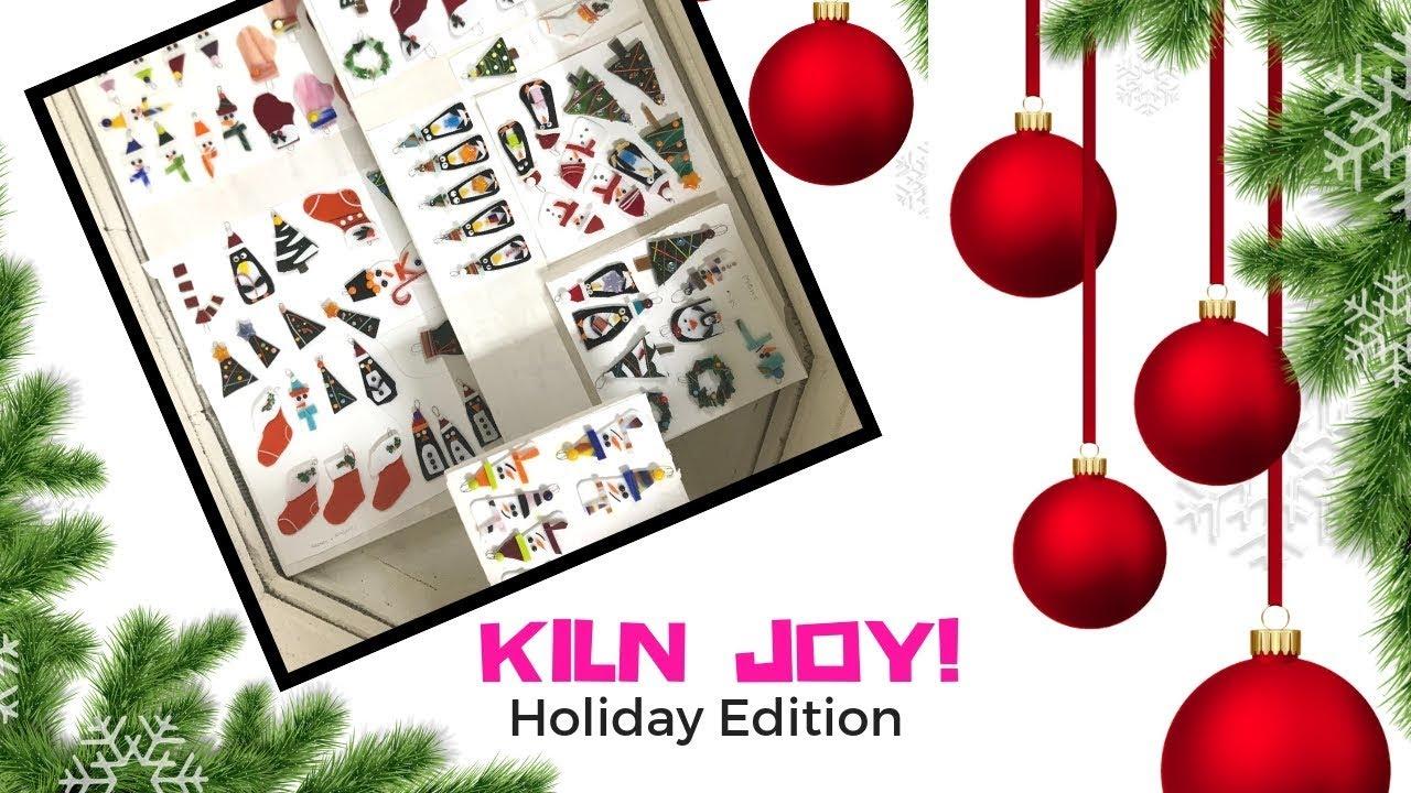 Holiday Ornaments Glasstronomy Studios Kiln Joy Holiday Edition