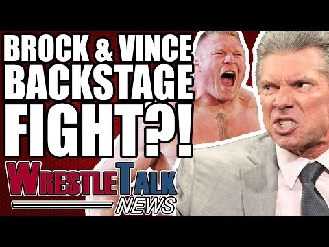 Brock Lesnar & Vince McMahon BACKSTAGE FIGHT After WWE WrestleMania 34? | WrestleTalk News Apr. 2018
