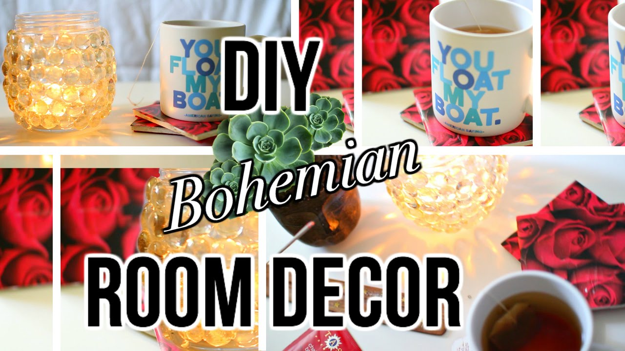 DIY Tumblr inspired Room Decor   Bohemian style   YouTube. Diy Boho Chic Home Decor. Home Design Ideas