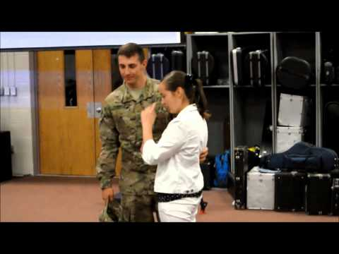 Soldier surprise sister at Crestview High School