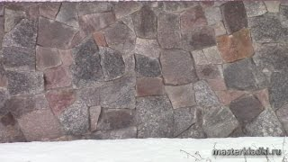 Обзор цоколя=бесшовная кладка бутового камня - [masterkladki]