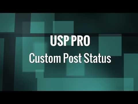 USP Pro - 22. Custom Post Status
