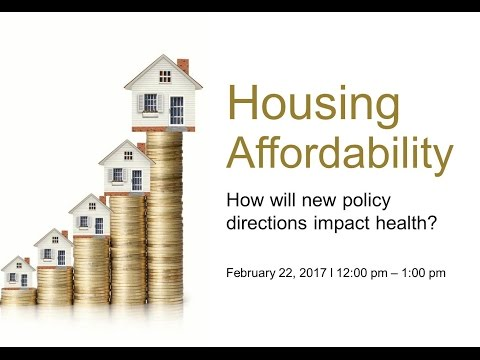 OPHA Webinar - Housing affordability: How will new policy di