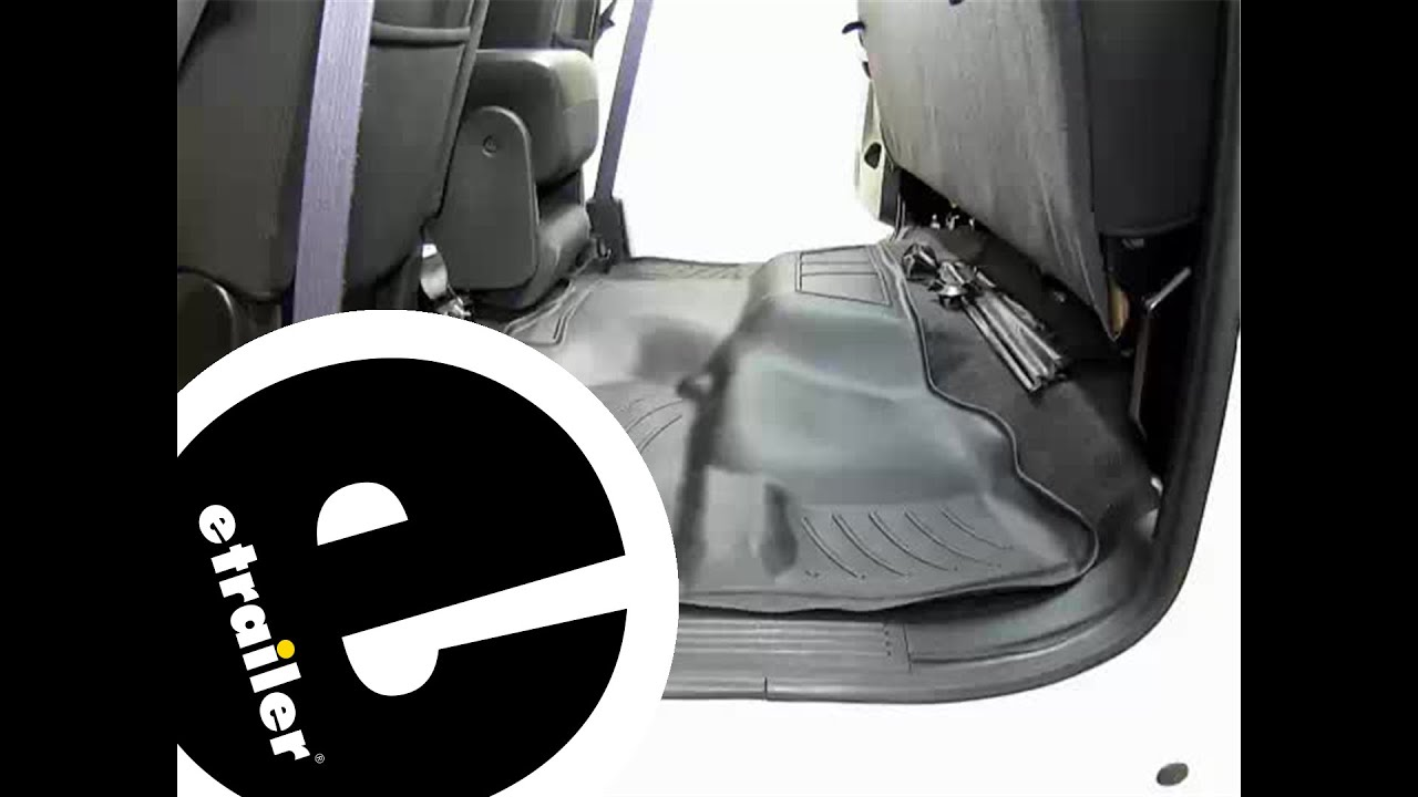 Review Of The WeatherTech Rear Floor Liner On A 2010 GMC Sierra    Etrailer.com   YouTube