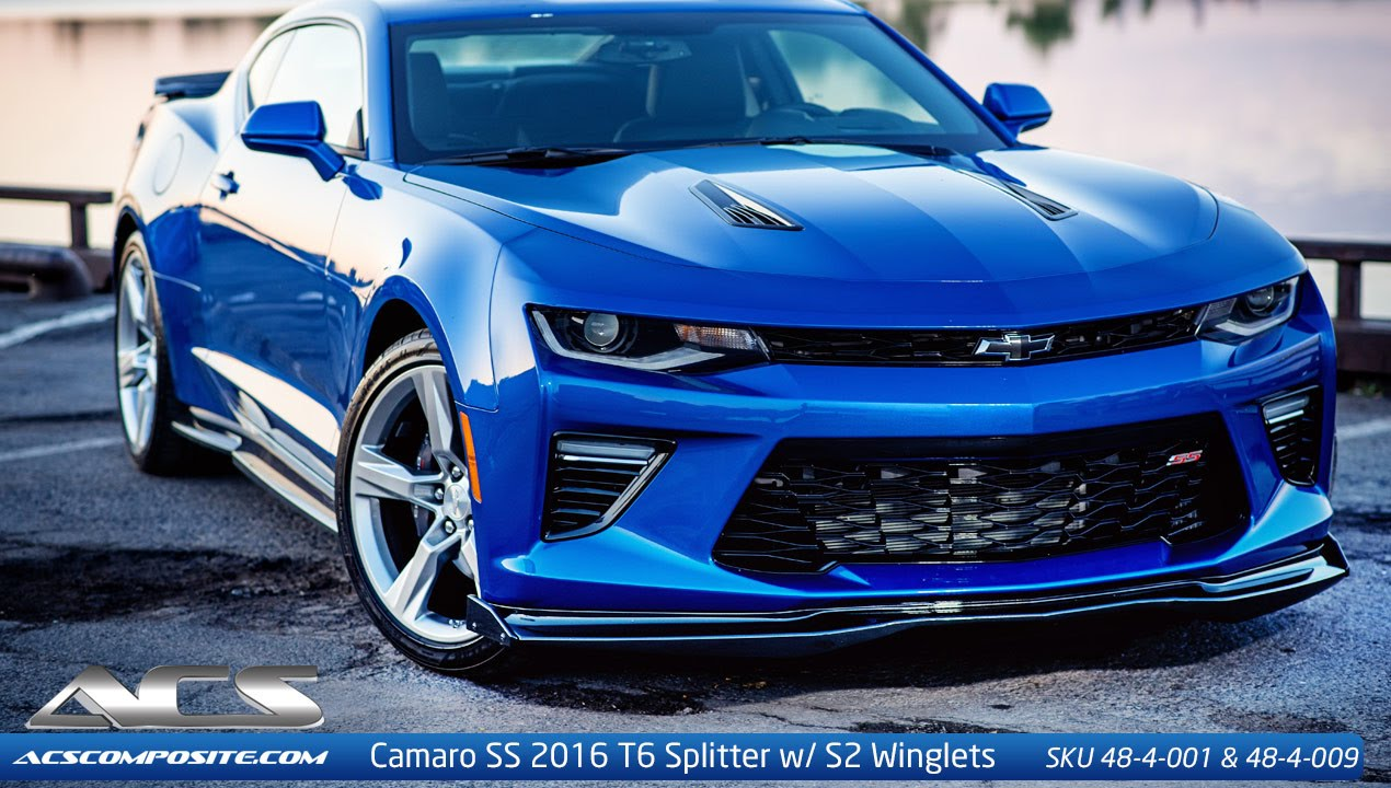 Camaro Six Ss 2016 2017 T6 Splitter Installation By Acs Composite Youtube