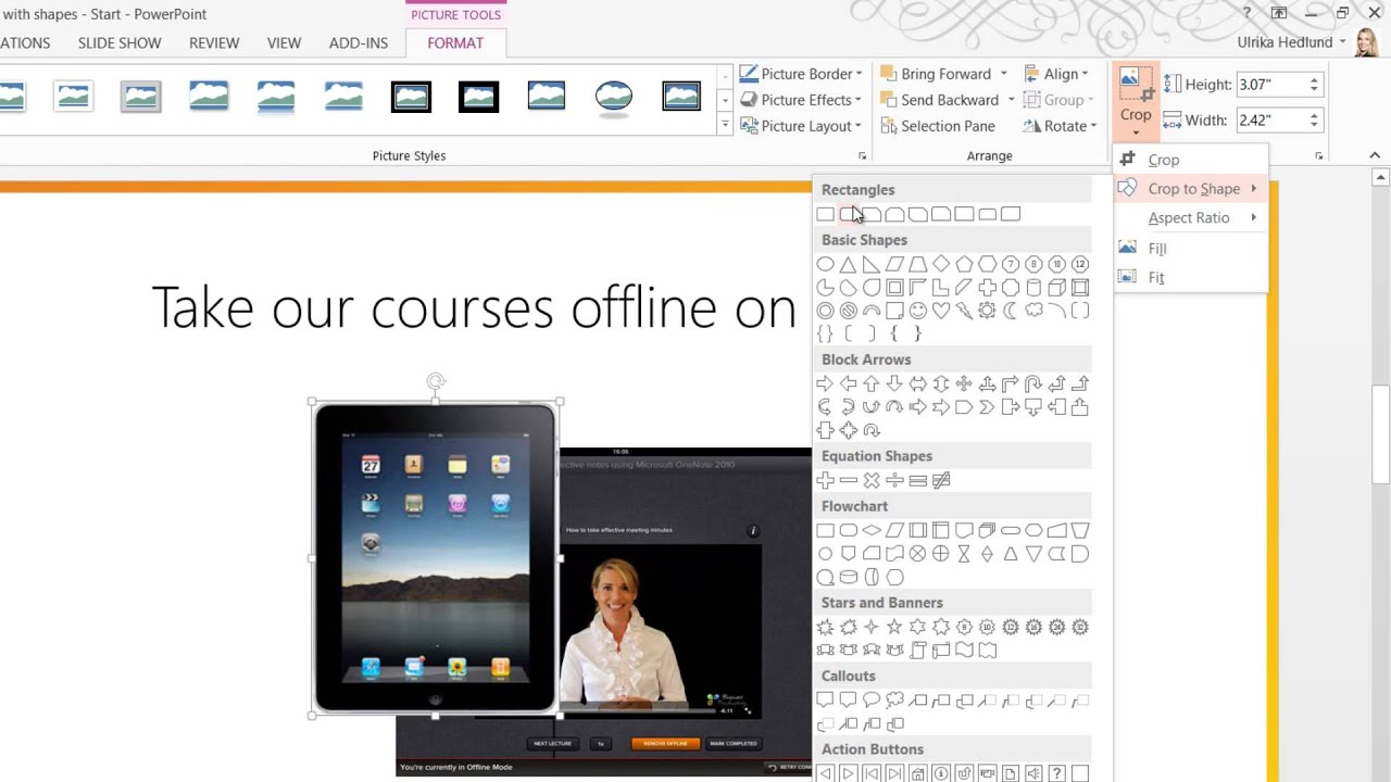 How to use Crop to Shape in PowerPoint 2013