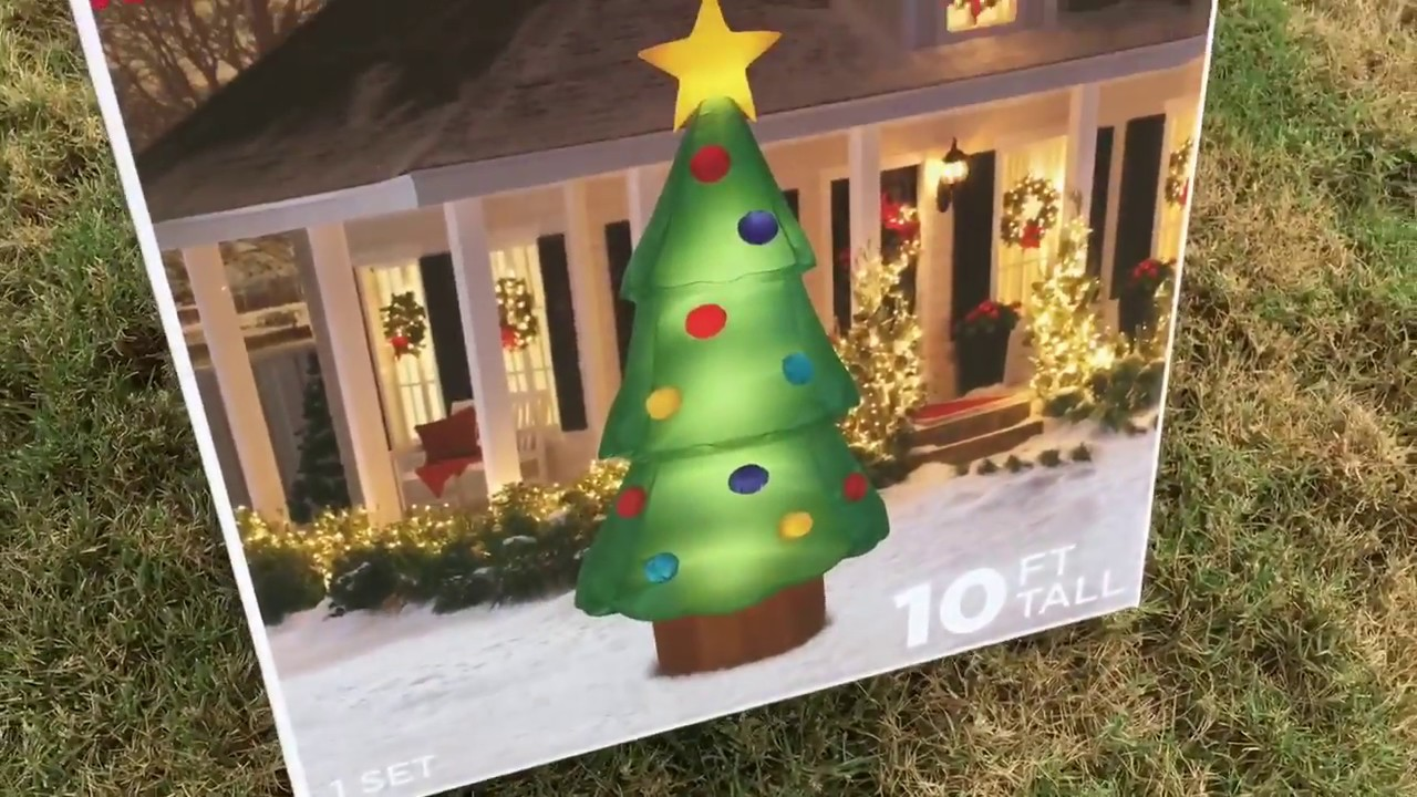 unboxing on 2017 10ft inflatable christmas tree from walmart - Walmart Inflatable Christmas Decorations