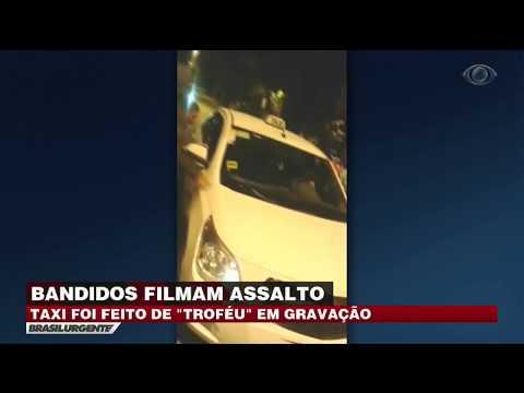 São Paulo: Bandidos Comemoram Roubo De Táxi Em Vídeo