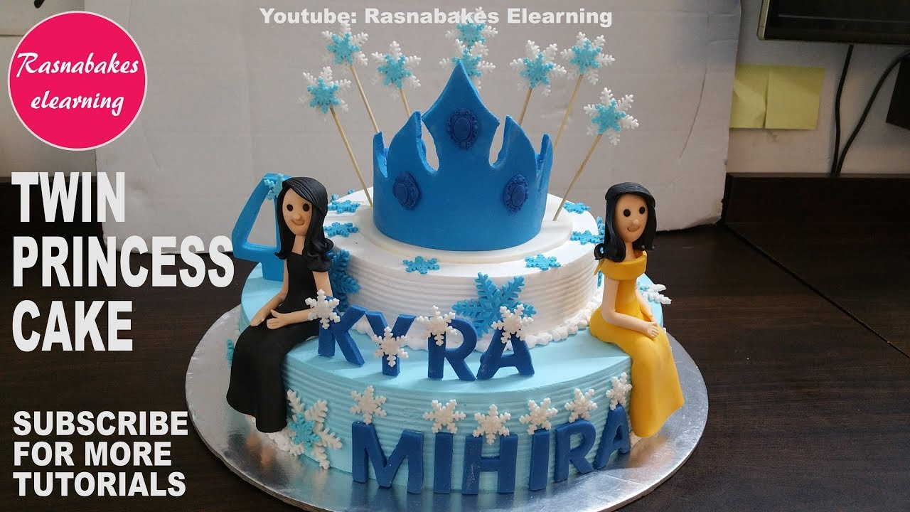 How To Make Twins Queen Birthday Tiara Crown Party Cake