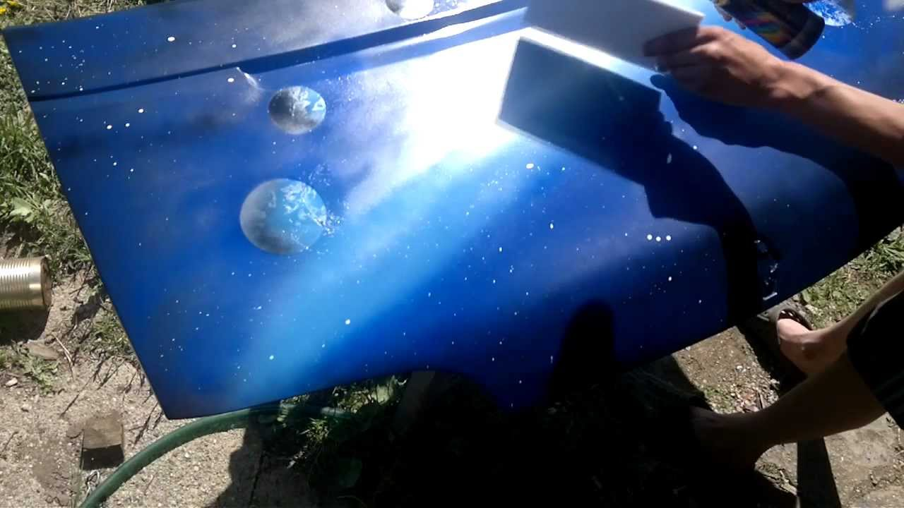 spray painting space car hood youtube. Black Bedroom Furniture Sets. Home Design Ideas