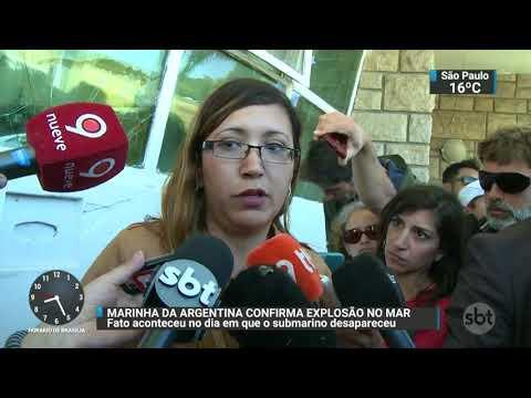 Marinha confirma explosão no mar no dia em que submarino desapareceu | SBT Brasil (23/11/17)