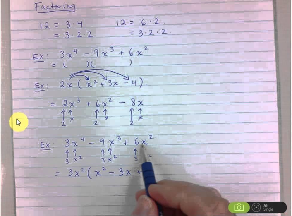 Grade 9 - Common Factoring - YouTube