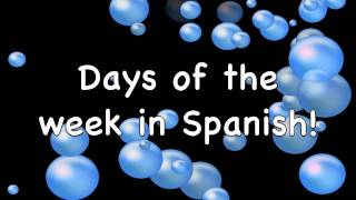 Days of the Week in English and Spanish
