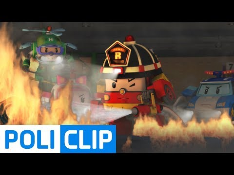 We have to turn it off before fire gets bigger! | Robocar Poli Rescue Clips