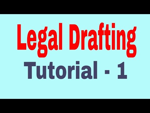 Legal Drafting Tutorial