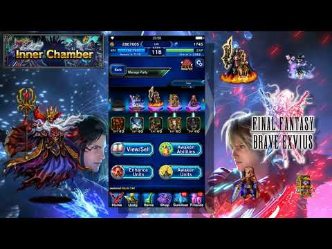 Final Fantasy Brave Exvius - Inner Chamber Nightmare 5 Man Guide