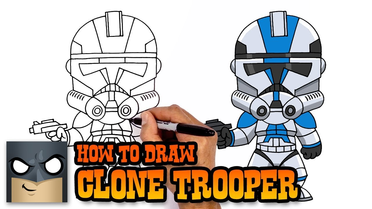 How To Draw Star Wars Clone Trooper