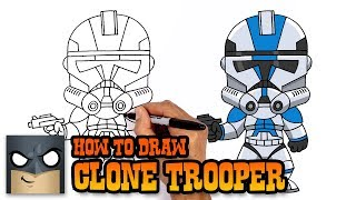How to Draw Clone Trooper | Star Wars