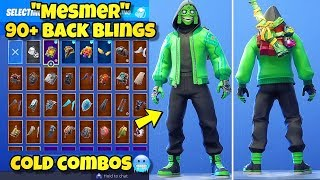 "NEW ""MEZMER"" SKIN Showcased With 90+ BACK BLINGS! Fortnite Battle Royale (BEST MEZMER COMBINATIONS)"