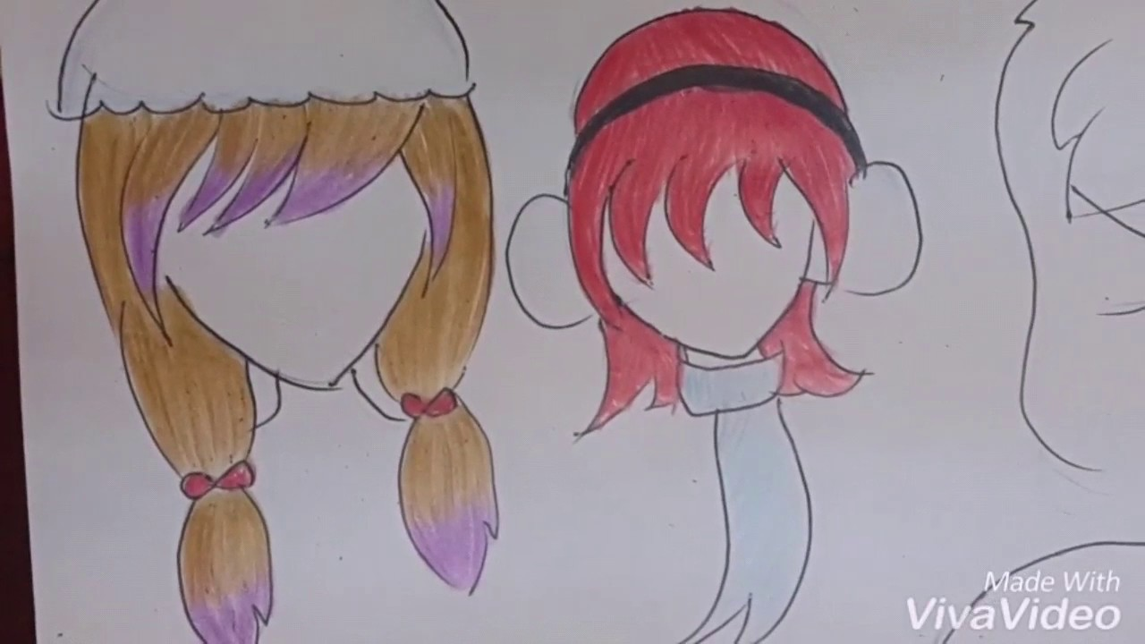 Speed drawing-8 cute girls hairstyles (part 2)| Magical ...