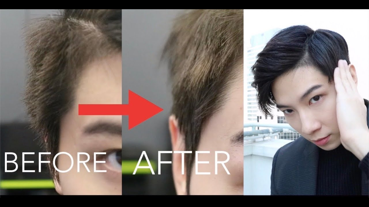 How To Relax Hair For Mens Down Perm Tutorial Korean Two Block Cut 自己電髮 Issac Yiu