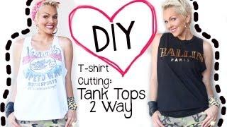 Diy shirt cutting tank top