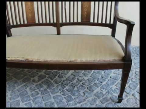 Divanetto due posti inglese divani antichi arredamento for Divani antichi usati