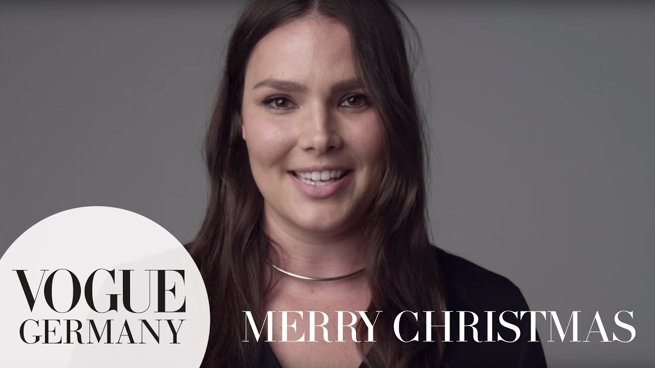 Merry Christmas – A Message for you by Candice Huffine for VOGUE