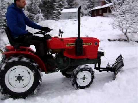 kompakt traktor Yanmar YM1510 4x4 + snöblad / snöplog by Bushcrafttrading.com