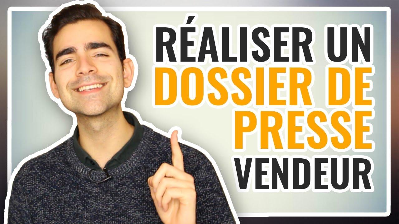 Extrem Comment réaliser un DOSSIER DE PRESSE vendeur ? - YouTube JQ45
