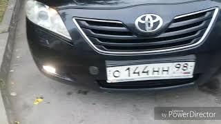 Установка линзованных противотуманных фар Toyota Camry V40