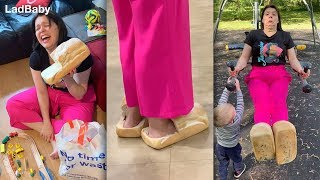 When Dad makes Mum wear bread slippers