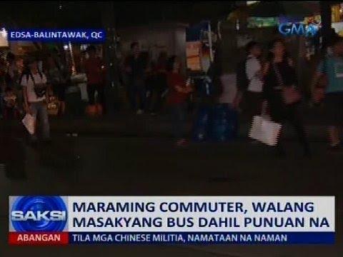 Saksi: Maraming commuter, walang masakyang bus dahil punuan na