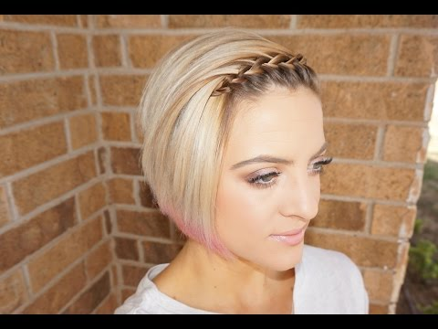 Waterfall Braided Bangs | Short Hair Tutorial